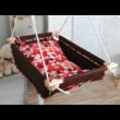 Textil alap és párnahuzat - babzsákos babahinta - red dot