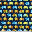 Elefántok csatos minta