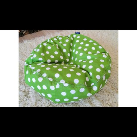 Green plüsstartó babzsák