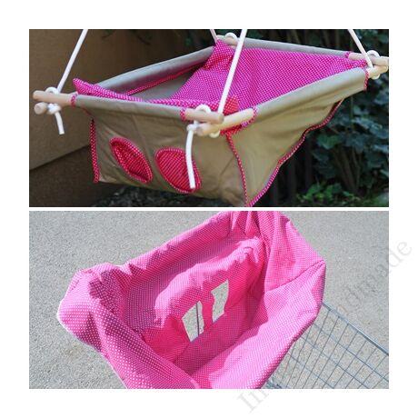 """Babahinta+bevásárlókocsi huzat """"pink"""""""