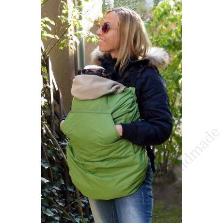 Zöld hordozós takaró - totyogó