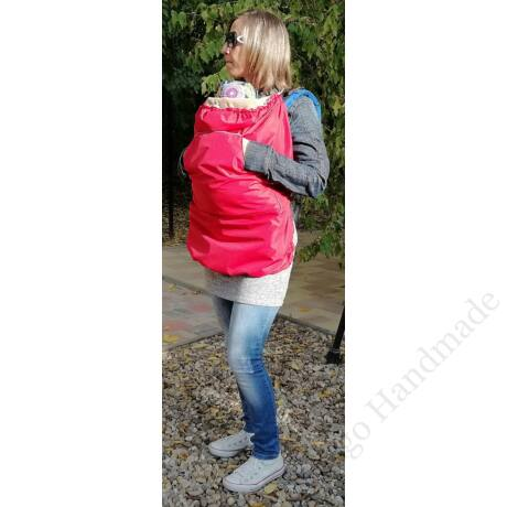 Piros hordozós takaró - baby