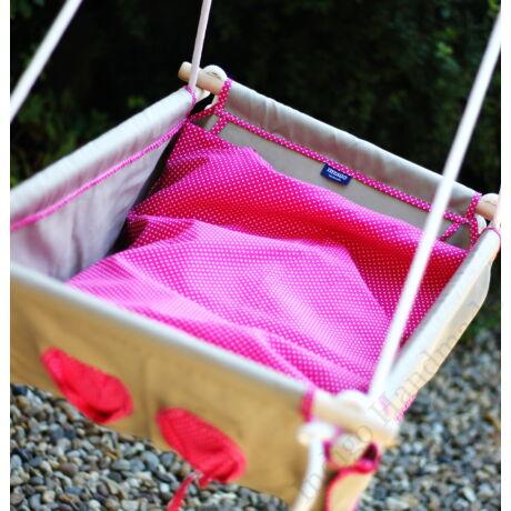 Pink-pöttyös babzsákos babahinta