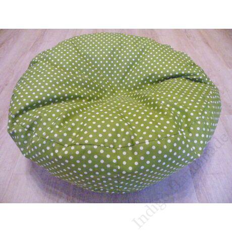 zöld pöttyös babzsák