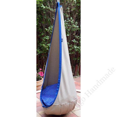 Bézs-kék csepphinta